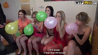 Abeila and Beatrice enjoy erotic party and pleases horny studs