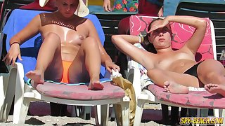 Topless Voyeur Beach Close Up HORNY Teens - Spy-Beach Video