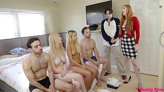 Amazing nude orgy between family liberty